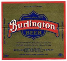 Burlington Beer Label