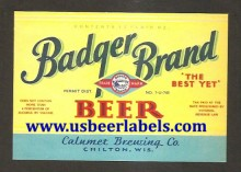 Beer Label Badger Brand