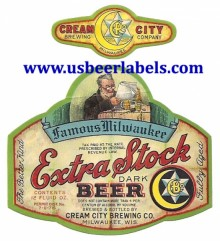 Beer Label Extra Stock Dark
