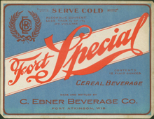 Fort Special Ceral Beverage Beer Label
