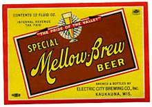 Mellow Brew Special Beer Label