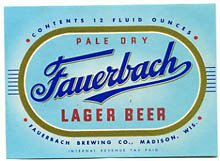 Fauerbach Pale Dry Lager Beer Label