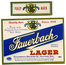 Fauerbach Lager Beer Label