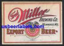 Export Beer Beer Label