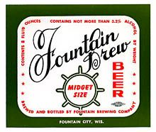 Fountain Brew Beer Label