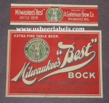 Milwaukees Best Bock Beer Label