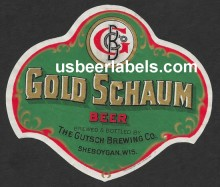 Gold Schaum Beer Label
