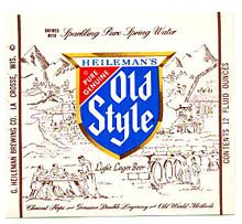 Heilemans Old Style Lager Beer Label