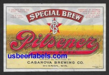 Special Brew Pilsener Beer Label