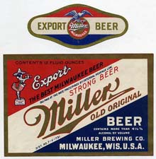 Miller Export Beer Label