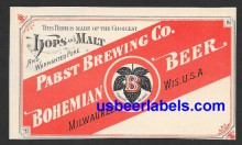 Pabst Bohemian Beer Label