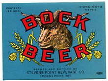 Bock Beer Label