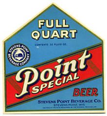 Point Special Beer Label