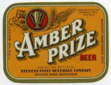 Amber Prize Beer Label