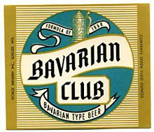 Bavarian Club Beer Label