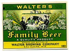 Walter's Family Beer Label