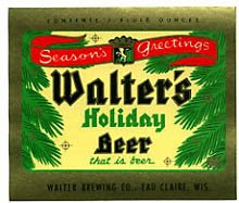 Walter's Holiday Beer Label