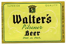Walter's Pilsener Beer Label