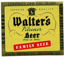 Walter's Pilsener Keg Beer Label