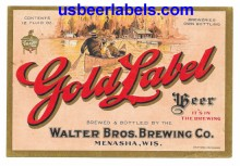 Gold Label Beer Beer Label