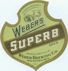 Weber's Superb Beer Label