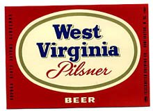 West Virginia Pilsner Beer Label
