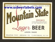 Mountain State Lager Beer Label