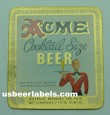 Acme Cocktail Size Beer Label