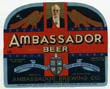 Ambassador Beer Label