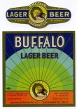 Buffalo Lager Beer Label