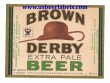 Brown Derby Extra Pale Beer Label