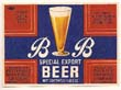 B B Special Export Beer Label