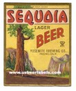 Sequoia Lager Beer Label