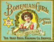 Bohemian Girl Special Brew Beer Label