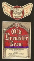 Old Brewster Brew Beer Label