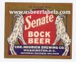 Senate Bock Beer Beer Label