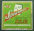 Spearman English Type Ale Beer Label