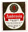 Ambrosia Real Lager Beer Label