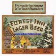 Forest Inn Lager Beer Label