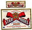 Star Model Beer Label