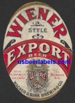 Wiener Export Beer Label