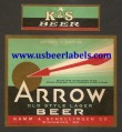 Arrow Old Style Lager Beer Label
