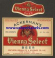 Ackermans Vienna Select Beer Label