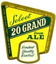 20 Grand Select Cream Ale Beer Label