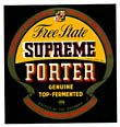 Free State Supreme Porter Beer Label