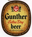 Gunther Extra Dry Beer Label