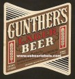 Gunther Lager Beer Label
