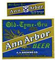 Ann Arbor Old Tyme Bru Beer Label
