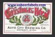 Auto City Christmas Brew Beer Label