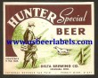 Hunter Special Beer Label